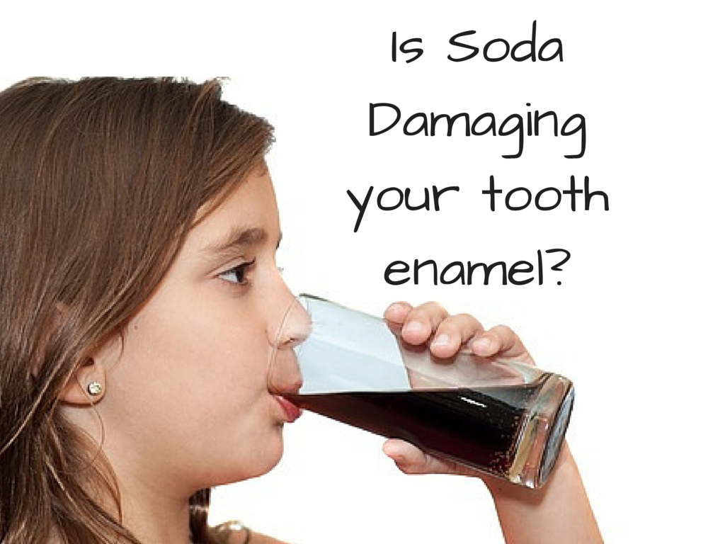 is soda damaging tooth enamel